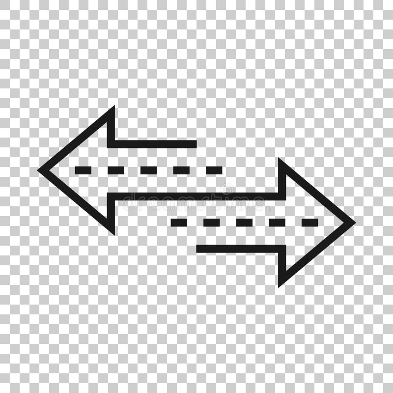 Het omgekeerde pictogram van het pijlteken in transparante stijl Verfris vectorillustratie op geïsoleerde achtergrond Herladen be royalty-vrije illustratie