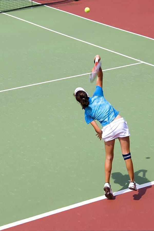 Het ondergeschikte Tennis van Dames stock afbeeldingen