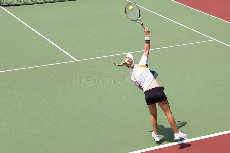 Het ondergeschikte Tennis van Dames stock afbeelding