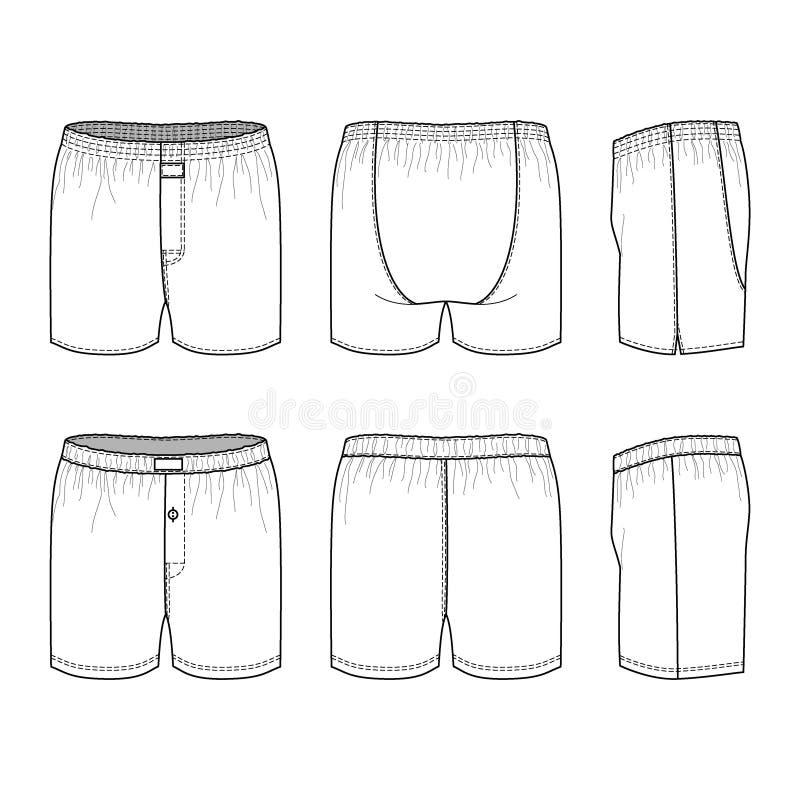Het ondergoed van mensen vector illustratie