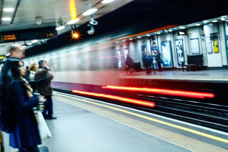 Het ondergrondse lichte schilderen royalty-vrije stock afbeeldingen
