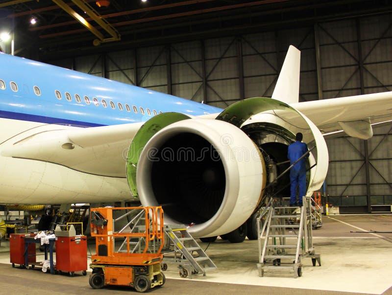 Het onderhoud van vliegtuigen royalty-vrije stock foto's