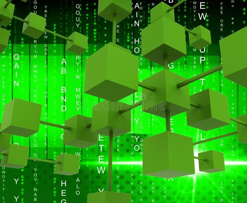 Het onderling verbonden Netwerk betekent Globale Mededelingen en Connectio royalty-vrije illustratie