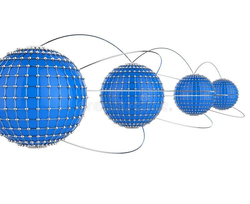 Het onderling verbonden Netwerk betekent verbindend Connectiviteit en Technologie vector illustratie