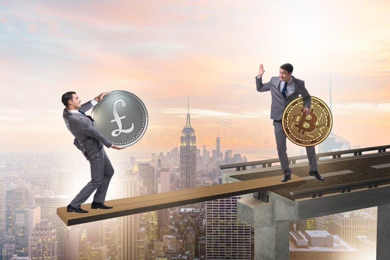 Het onderlinge afhankelijkheidsconcept met twee munten royalty-vrije illustratie