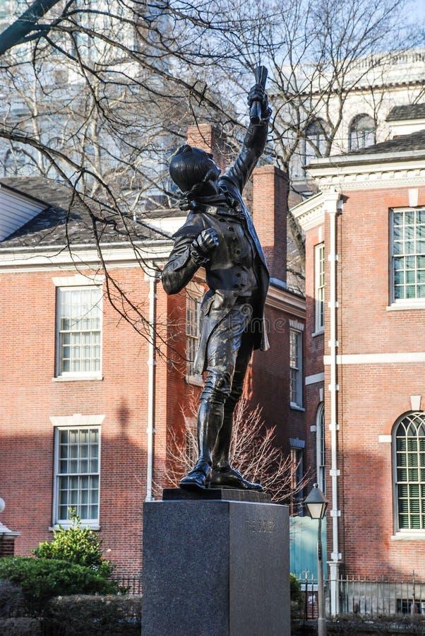 Het Onderschrijvingsslipstandbeeld in Philadelphia, de V.S. stock foto's