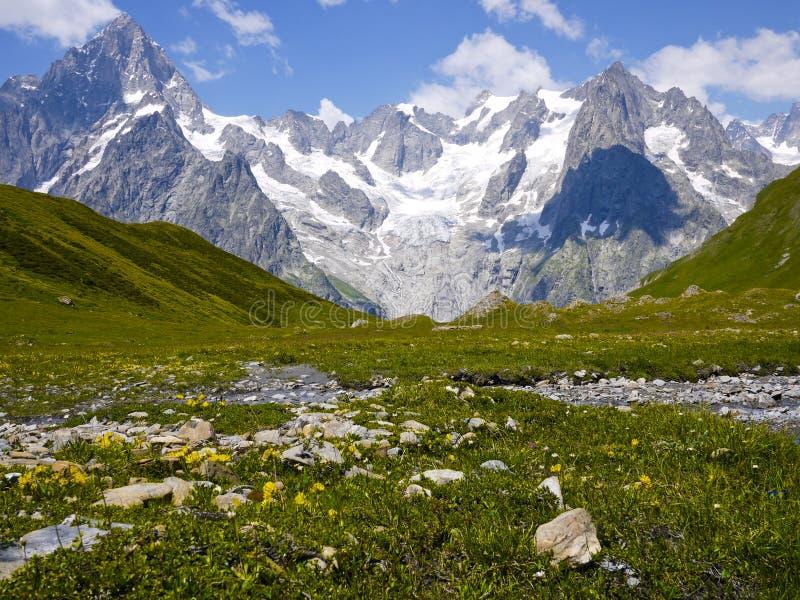 Het onderstel Blanc van Val Ferret, de Bergen van Alpen, Italië royalty-vrije stock fotografie
