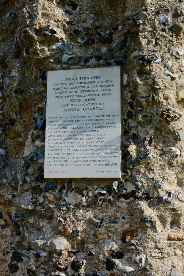 Het ondertekenen van Magna Carta stock afbeelding
