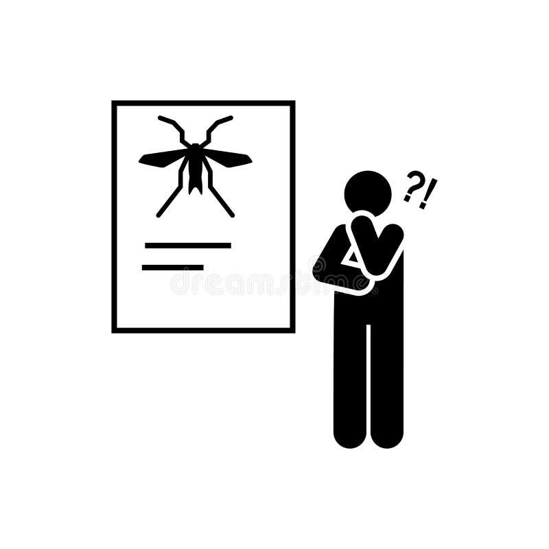Het onderwerp, leraar, denkt, schoolpictogram Element van het pictogram van het onderwijspictogram Grafisch het ontwerppictogram  vector illustratie
