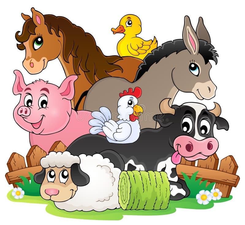 Het onderwerpbeeld 2 van landbouwbedrijfdieren vector illustratie