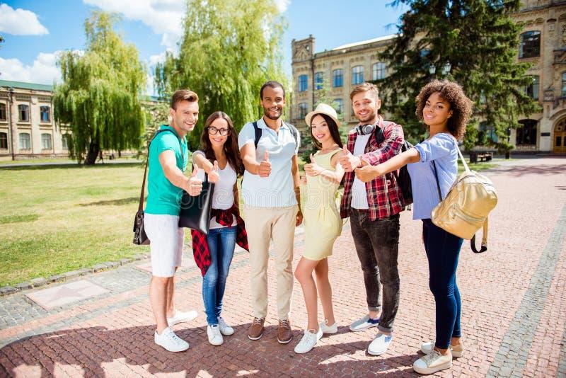 Het onderwijs is koel! Succesvolle toekomst voor de slimme jeugd! Attrac zes royalty-vrije stock afbeeldingen