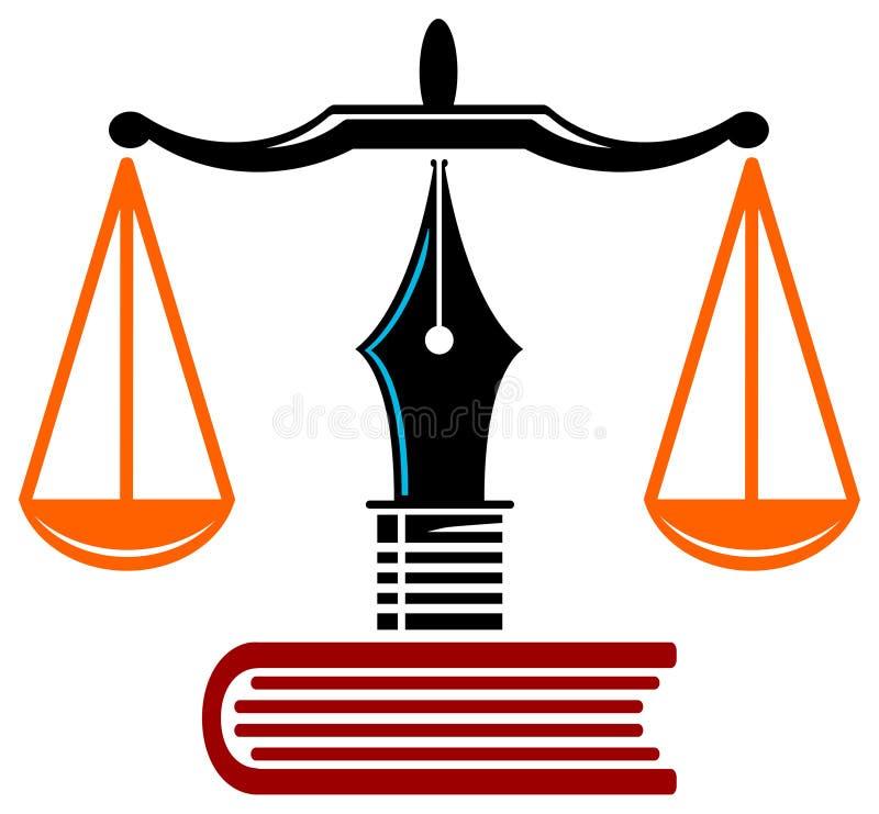 Het onderwijs van de wet vector illustratie