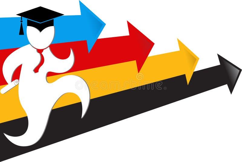 Het onderwijs van het doel vector illustratie