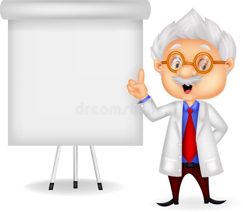 Het onderwijs van het professorsbeeldverhaal vector illustratie