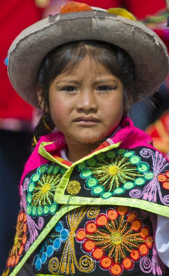 Het onderwijsdag van Peru stock foto