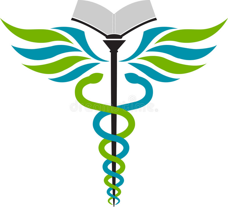Het onderwijsembleem van het ziekenhuis