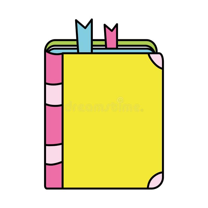 Het onderwijsobjecten van het kleurenboek schoolhulpmiddel vector illustratie