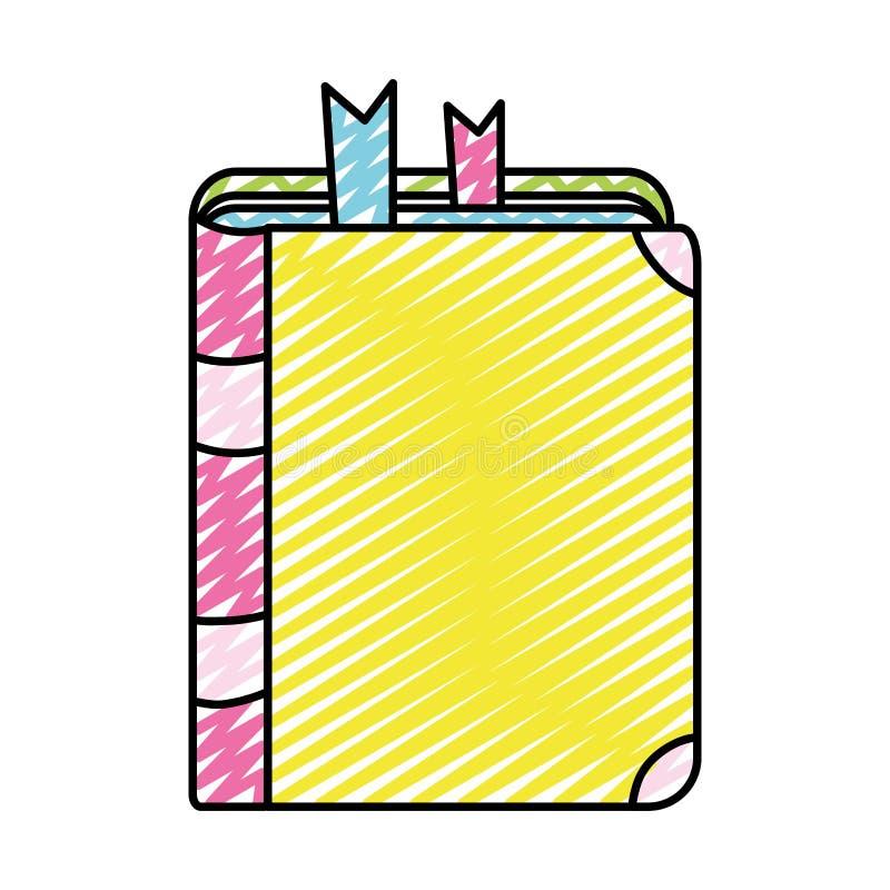 Het onderwijsobjecten van het krabbelboek schoolhulpmiddel stock illustratie
