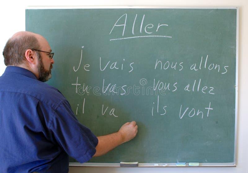 Het onderwijzende Frans stock afbeeldingen