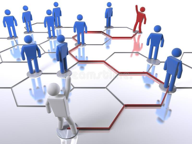 Het onderzoek van de bedrijfsnetwerkpersoon royalty-vrije illustratie