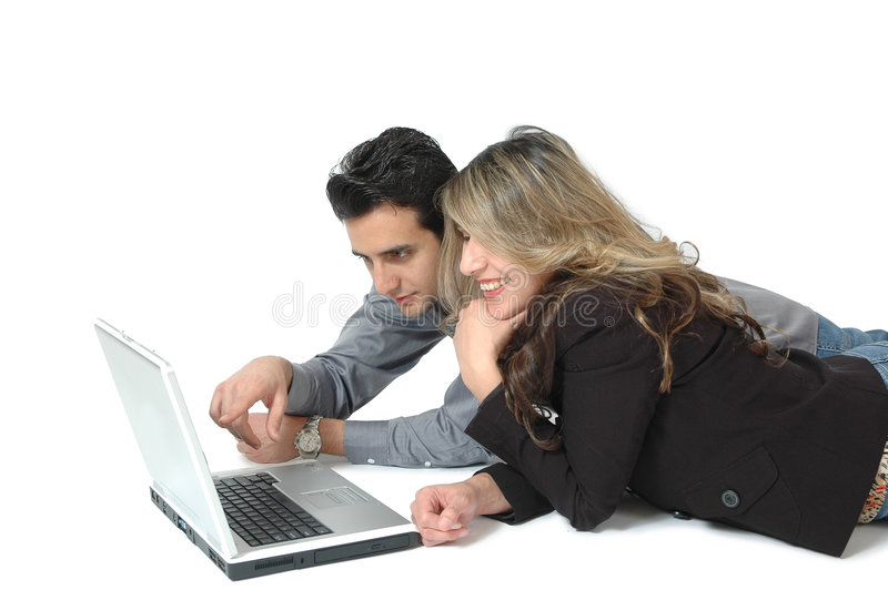 Het Onderzoek van de computer stock afbeelding