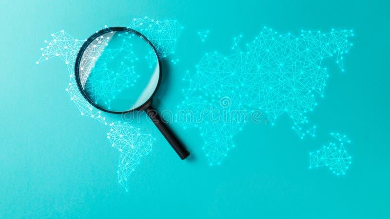 Het onderzoek van de concepteninformatie stock fotografie