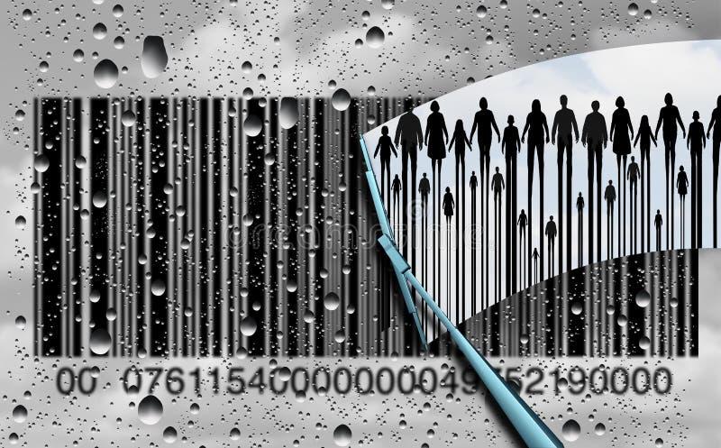 Het Onderzoek van de consument stock illustratie