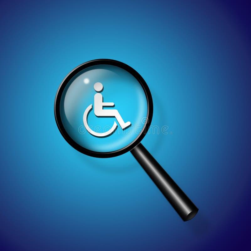 Het Onderzoek van de handicap royalty-vrije illustratie