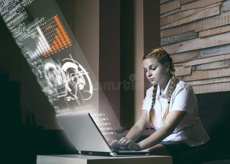 Het onderzoek van de Infographicsstudie stock foto