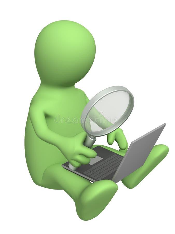 Het onderzoek van de informatie stock illustratie