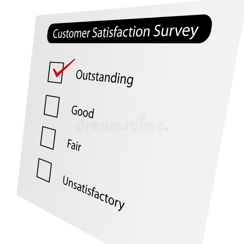 Het Onderzoek van de Tevredenheid van de klant vector illustratie