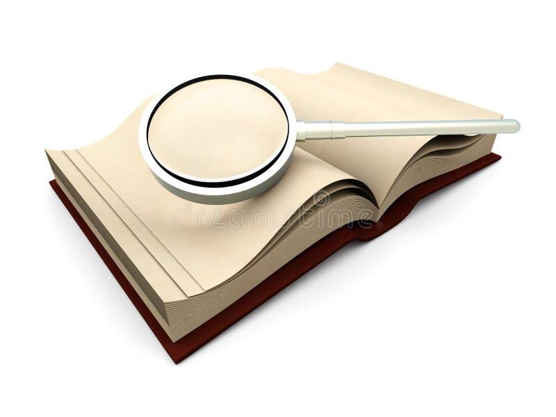 Het Onderzoek van het boek royalty-vrije illustratie