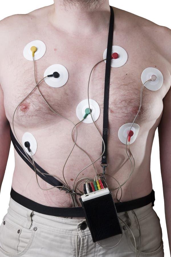 Het onderzoek van het hart stock foto