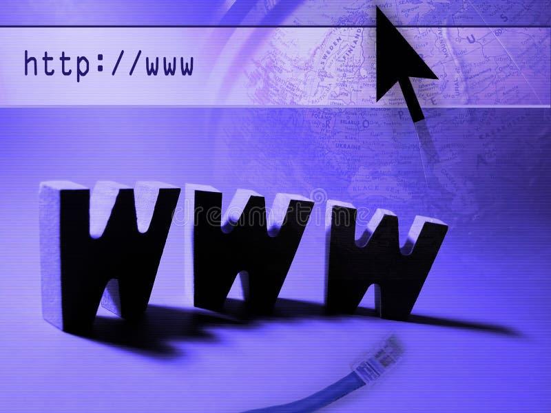 Het Onderzoek van het Web stock afbeeldingen