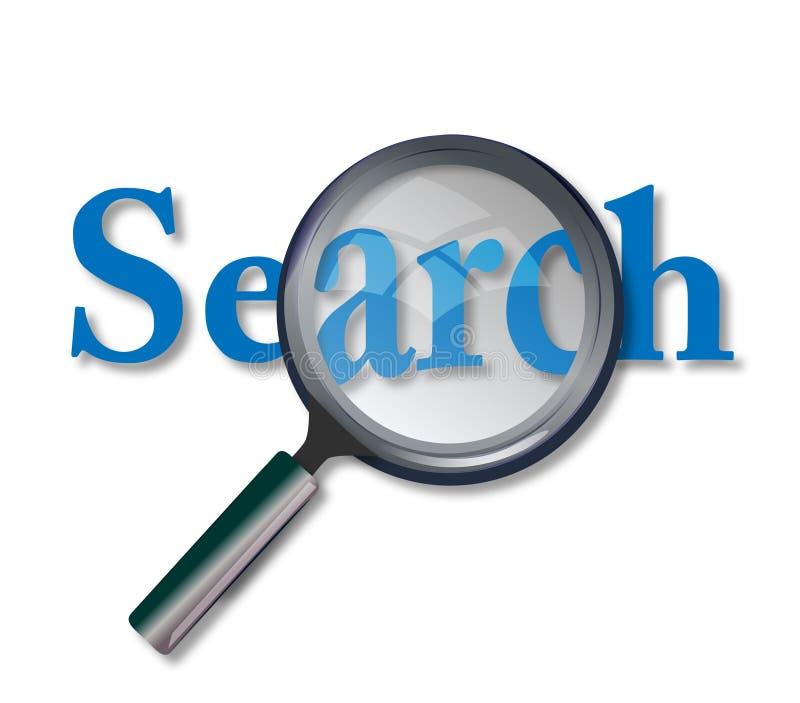 Het Onderzoek van het Web royalty-vrije illustratie