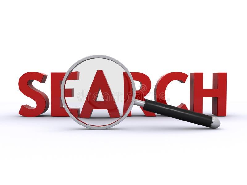 Het onderzoek van Internet stock illustratie