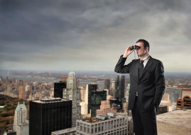 Het onderzoeken van de toekomst royalty-vrije stock afbeelding