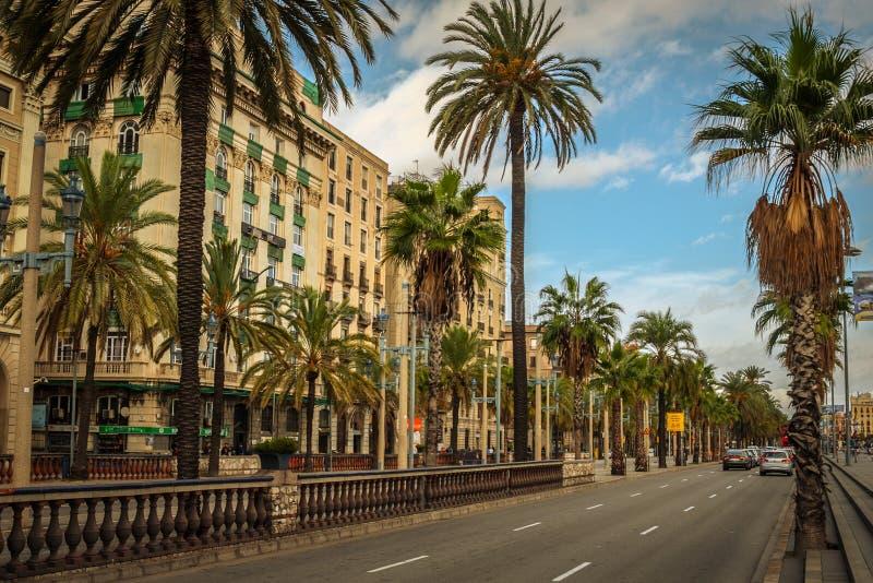 Het onderzoeken van de Toneelstad van Barcelona royalty-vrije stock foto