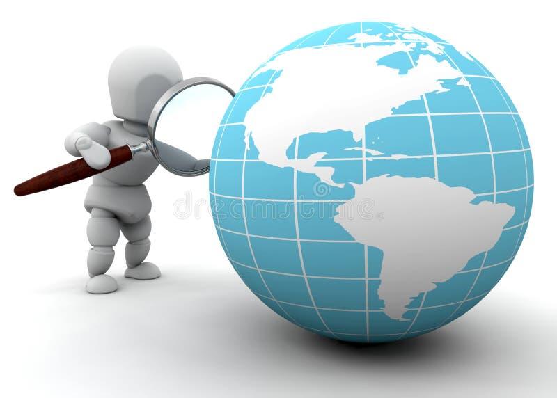 Het onderzoeken van de wereld stock illustratie