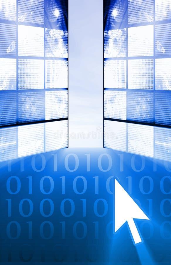 Het onderzoeken van Internet stock illustratie