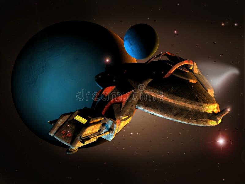 Het onderzoeken van ruimte royalty-vrije illustratie