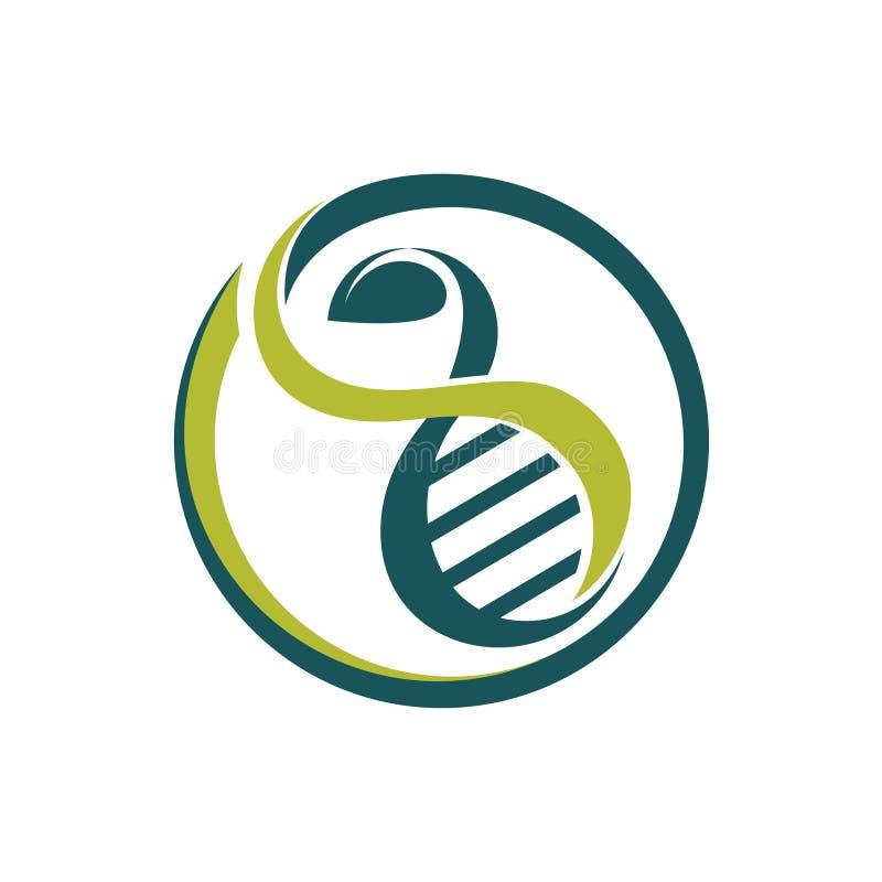 Het Onderzoekscentrumembleem van cirkel Groen Gezond DNA stock illustratie