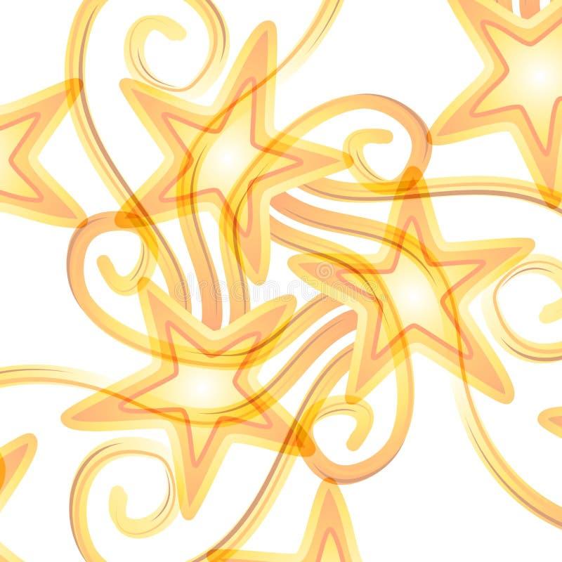 Het ondoorzichtige Patroon van Vallend sterren stock illustratie