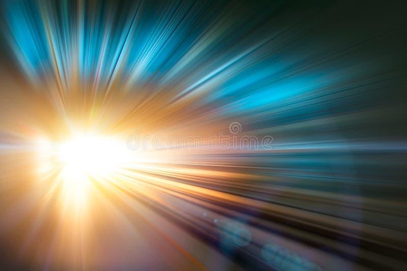 Het onduidelijke beeld abstract van de versnellings super snel snel motie ontwerp als achtergrond stock foto