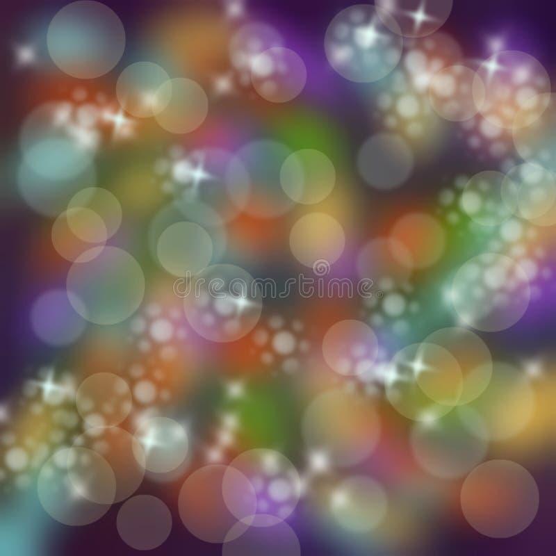 Het onduidelijke beeld van de discokleur bokeh stock foto