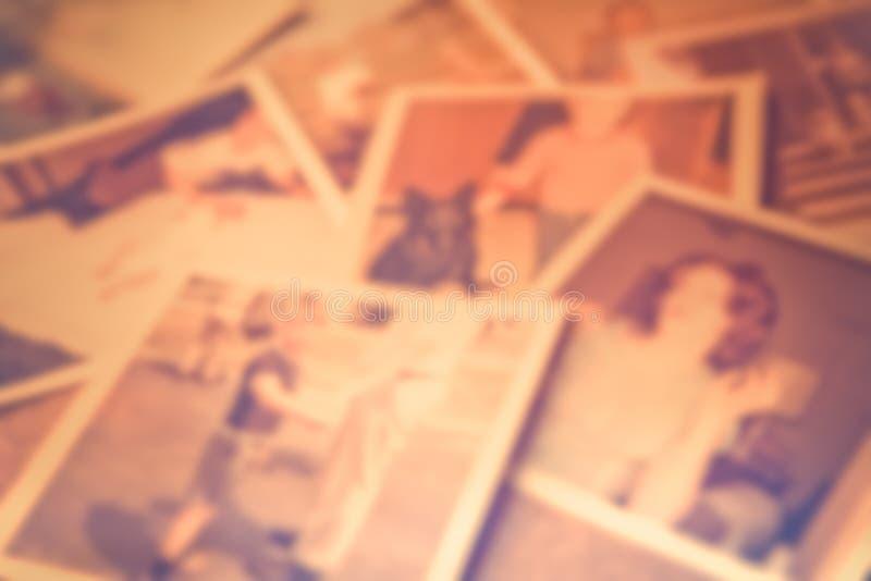 Het Onduidelijke beeld van familiefoto's stock foto's