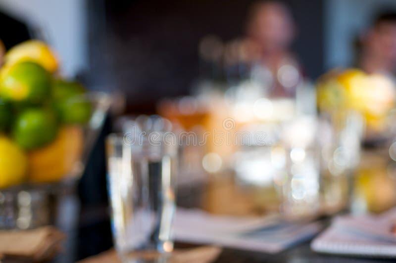 Het Onduidelijke beeld van het restaurant royalty-vrije stock fotografie