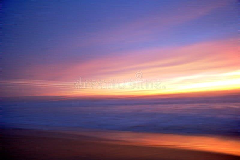 Het onduidelijke beeld van het strand royalty-vrije stock foto