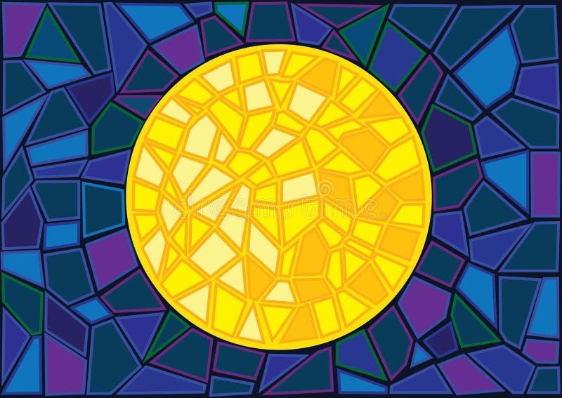Het onduidelijke beeldachtergrond van het maangebrandschilderde glas vector illustratie
