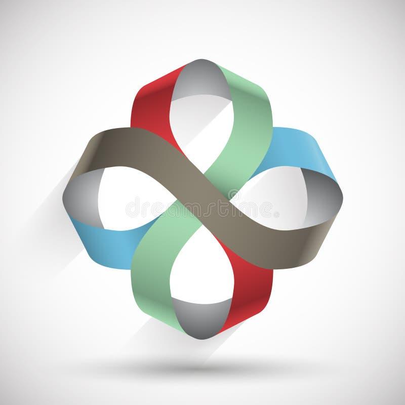 Het oneindige symbool van het kleurenlint vector illustratie